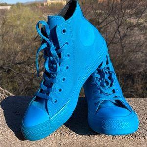 New Bright Aqua Turquoise Converse High Tops 7